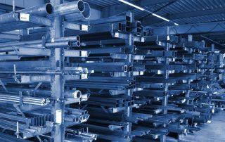 Lagerrung von Stahl und Edelstahl bei Hümmer Maschinenbau